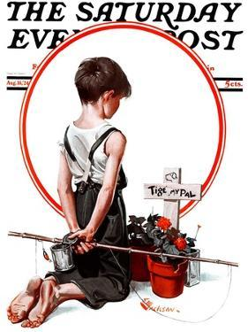 """""""'Tige, My Pal',"""" Saturday Evening Post Cover, August 16, 1924 by Elbert Mcgran Jackson"""