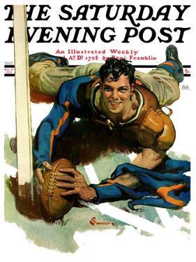 """Touchdown,"" Saturday Evening Post Cover, November 21, 1931 by Elbert Mcgran Jackson"