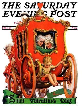 """Valentine Ride,"" Saturday Evening Post Cover, February 11, 1928"