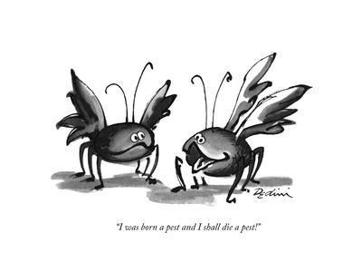 """I was born a pest and I shall die a pest!"" - New Yorker Cartoon"