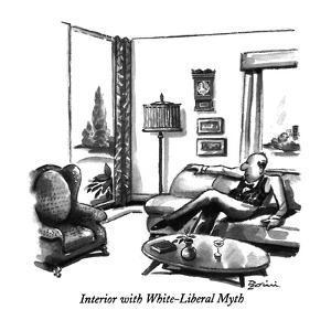 Interior with White-Liberal Myth - New Yorker Cartoon by Eldon Dedini