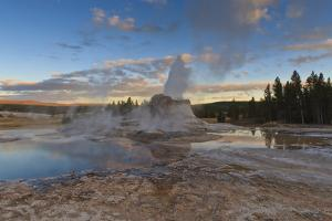 Castle Geyser at Sunset by Eleanor