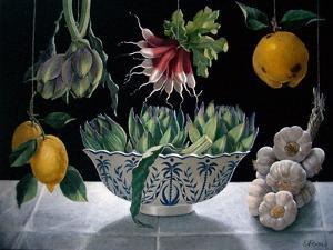 Radishes, Artichokes and Garlic by ELEANOR FEIN