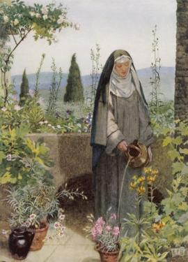 Clare of Assisi Tending to Plants by Eleanor Fortescue Brickdale