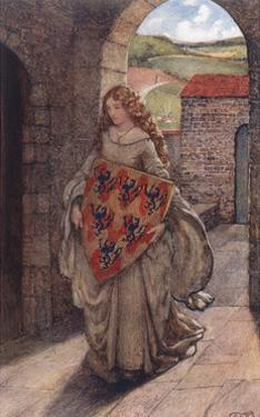 Elaine and Shield, Legend by Eleanor Fortescue Brickdale