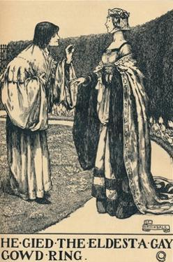 'llustration to The Twa Sisters o' Binnorie, c1900 by Eleanor Fortescue-Brickdale