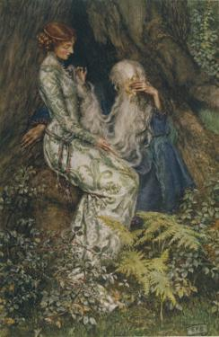 Merlin is Spellbound by His Lover Nimue by Eleanor Fortescue Brickdale