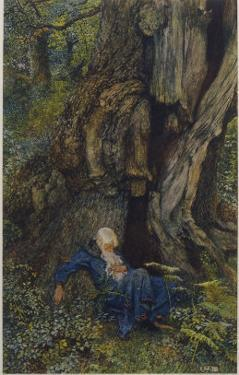 Merlin Reveals the Secrets of His Magic to Vivien Who Promptly Deserts Him by Eleanor Fortescue Brickdale