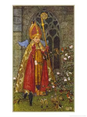 Saint Valentine Depicted Here as Boy Bishop by Eleanor Fortescue Brickdale