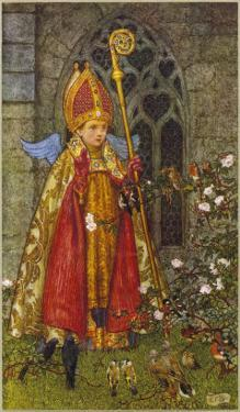 Saint Valentine Depicted Here as Boy Bishop by Eleanor Fortescue Brickdale