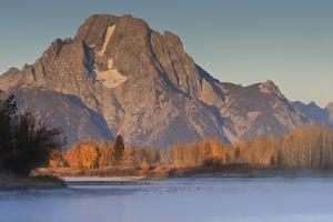 Frosty Autumn (Fall) Dawn at Oxbow Bend by Eleanor