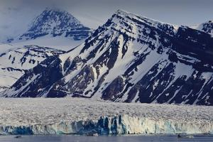 Glacier Backed by Snowy Mountains by Eleanor