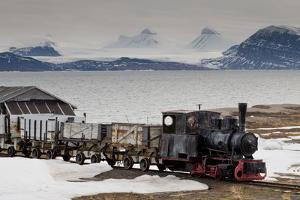 Old Coal Train with Snow by Eleanor