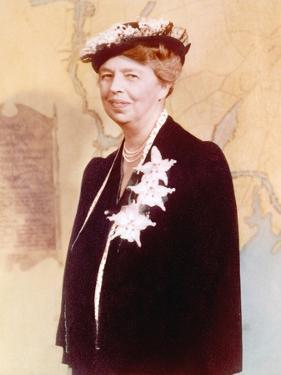 Eleanor Roosevelt, Hand Colored Photograph Circa 1936