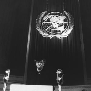 Eleanor Roosevelt Speaking before United Nations in Central Hall, Westminster, London