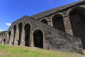 Amphitheatre Exterior Detail, Roman Ruins of Pompeii, UNESCO World Heritage Site, Campania, Italy by Eleanor Scriven