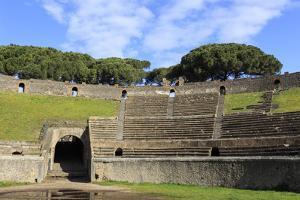 Auditorium and Entrance Gate, Amphitheatre, Roman Ruins of Pompeii, Campania, Italy by Eleanor Scriven