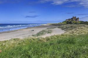 Bamburgh Castle across the Dunes, Early Summer Afternoon, Northumberland, England, United Kingdom by Eleanor Scriven