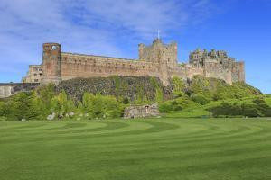 Bamburgh Castle under a Blue Summer Sky, Bamburgh, Northumberland, England, United Kingdom by Eleanor Scriven