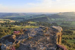 Curbar and Calver Villages from Curbar Edge on a Summer Evening by Eleanor Scriven