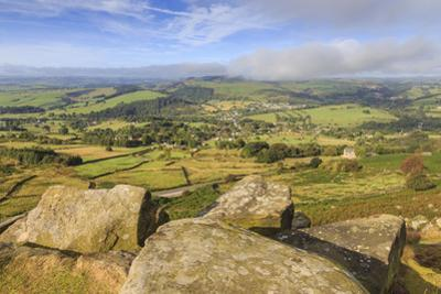 Curbar Edge, early autumn, Peak District National Park, Derbyshire, England, United Kingdom, Europe by Eleanor Scriven