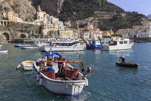 Fisherman in Fishing Boat in Amalfi Harbour by Eleanor Scriven