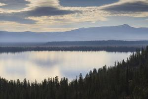 Jenny Lake from Inspiration Point on a Hazy Autumn (Fall) Day, Grand Teton National Park, Wyoming by Eleanor Scriven