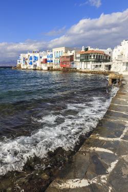 Little Venice promenade, Mykonos Town (Chora), Mykonos, Cyclades, Greek Islands, Greece, Europe by Eleanor Scriven