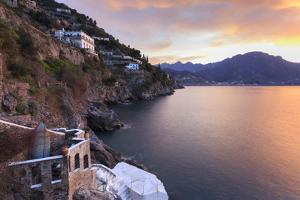 Sunrise, Dawn on the Costiera Amalfitana (Amalfi Coast), View Towards Maiori, Campania, Italy by Eleanor Scriven