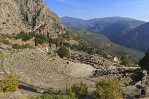 Theatre at Delphi, UNESCO World Heritage Site, Peloponnese, Greece, Europe by Eleanor Scriven
