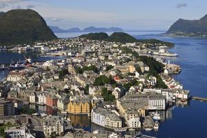 View from Aksla Hill over Alesund and Surrounding Waters, More Og Romsdal, Norway by Eleanor Scriven