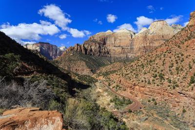 Zion Canyon View from Zion Park Boulevard