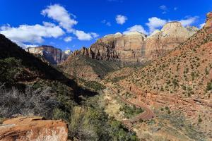Zion Canyon View from Zion Park Boulevard by Eleanor