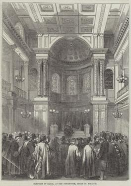 Election of Rabbi, at the Synagogue, Great St Helen's
