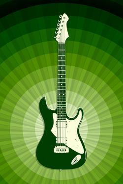 Electric Guitar Green Music