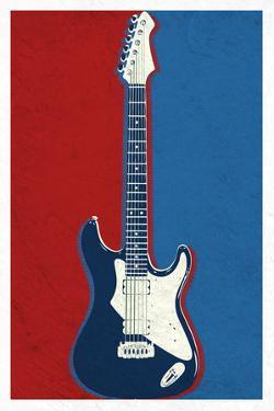 Electric Guitar Red White and Blue Music