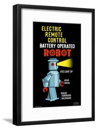 Electric Remote Control Robot--Framed Masterprint