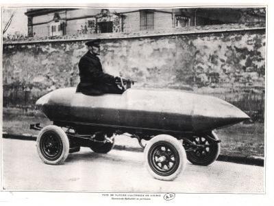 Electrical Racing Car Jenatzy La Jamais Contente, c.1900