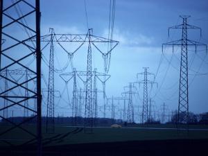 Electricity Pylons on a Landscape