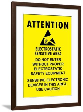 Electrostatic Sensitive Area ESD Warning--Framed Art Print