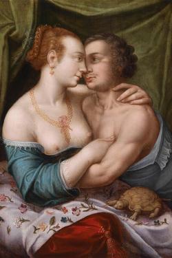 Elegant Loving Couple, Ca. 1600