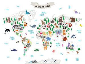 My Amazing World Map by Elena David