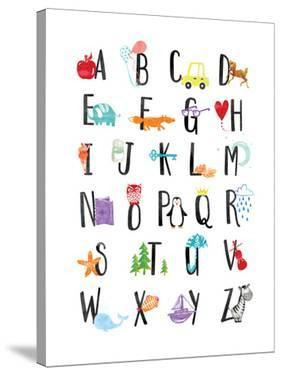Watercolor Alphabet by Elena David
