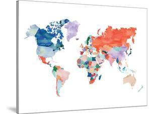 Watercolor World Map by Elena David