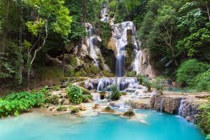 Kuang Si Waterfalls, Laos by Elena Ermakova
