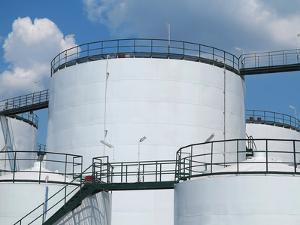Oil Reservoir and Storage Tank of Mineral Oil by Elena Larina