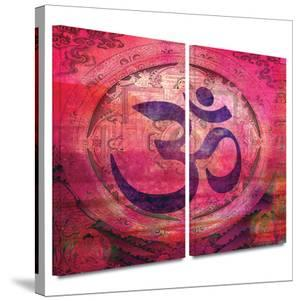 Om Mandala 2 piece gallery-wrapped canvas by Elena Ray