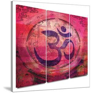 Om Mandala 3 piece gallery-wrapped canvas by Elena Ray