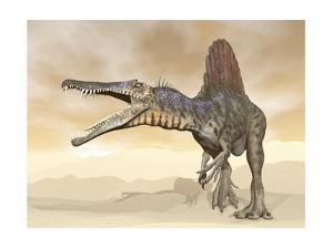 Spinosaurus Dinosaur in the Desert - 3D Render by Elenarts