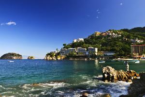 View on Pacific Coast of Mexico Resort Town of Mismaloya near Puerto Vallarta by elenathewise